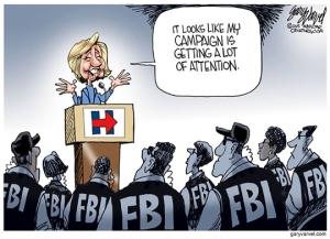 Cartoonist Gary Varvel: FBI looks into Hillary's email server