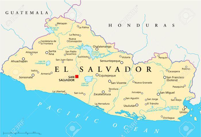 El Salvador Political Map