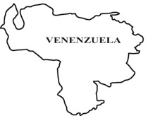 Venenzuela outline map clipart